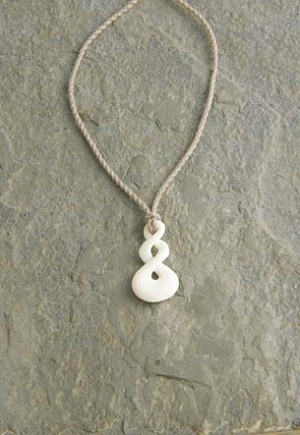 Triple Twist Bone Necklace