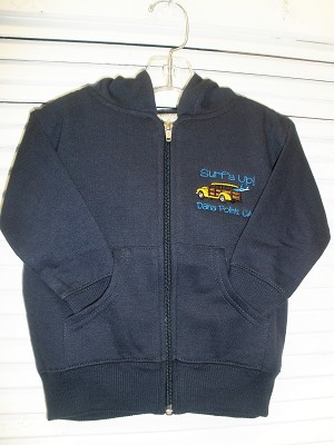 Navy Full Zipper Hoody