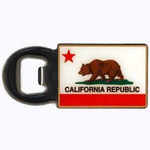 California Republic Bottle Opener Magnet