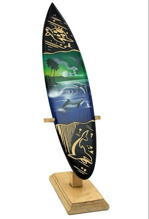 "8"" Carved / Painted Surfboard"