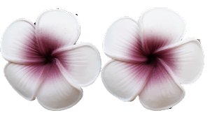 Small Purple Plumeria Earrings