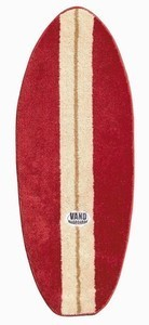 Surfboard rug in red/beige