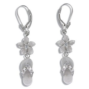 c6343cd473d Plumeria Slipper Lever Back Earrings
