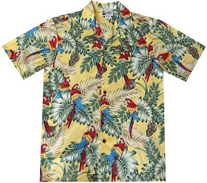 Parrot Aloha Shirt in Yellow